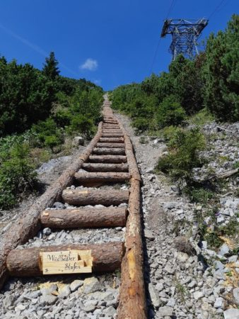 Seilbahnsteig Wadlbeisser Stufen