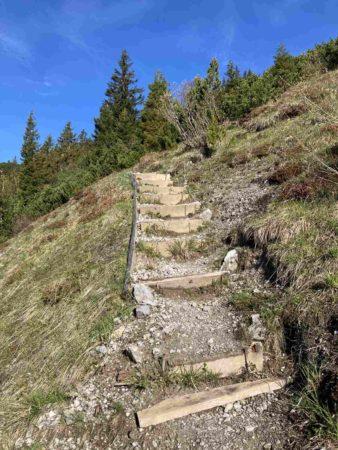 Seilbahnsteig Treppe